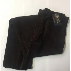 Pantalone in velluto liscio marrone mis. 40
