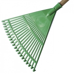 Rastrello in pvc per foglie 45 cm.
