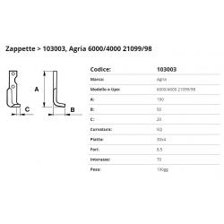 Zappa tipo AGRIA Int. 70  F.8,5 P 30X4 SQ