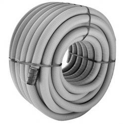 Tubo corrugato PE D.P. Ø 40 25 mt Grigio