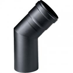 Curva pellet 45° Ø 80 nero c/guarn.