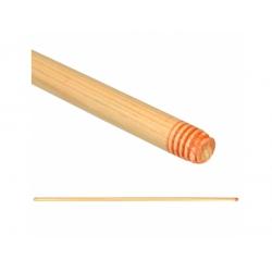 Manico in legno filettato per scopa cm.150