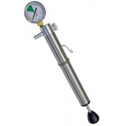 Pompa con manometro x contenitori inox