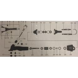 Attaccco baionetta pin x tosat. pensile (fig. 38)