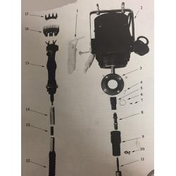 Attacco filettato Baionetta x tosatr. pensile (fig. 13)