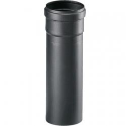 Tubo pellet Ø 80 cm. 50 nero con guarnizione
